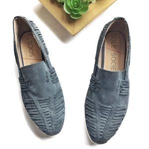 Sole Society Slip-On Suede Platform Sneakers